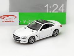 Mercedes-Benz SL 500 Year 2012 white 1:24 Welly