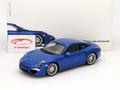 Porsche 911 (991) Carrera S blau 1:18 Welly