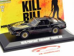 Pontiac Firebird Trans Am filme Kill Bill Volume II 2004 preto 1:43 Greenlight