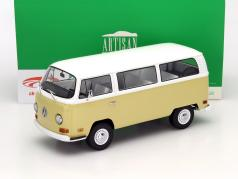 Volkswagen VW T2b Bus år 1971 beige / hvid 1:18 Greenlight