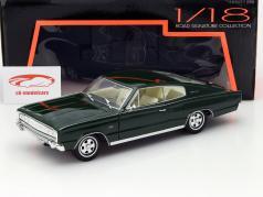 Dodge Charger Year 1966 dark green 1:18 Lucky DieCast