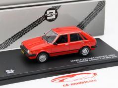 Mazda 323 Hatchback Baujahr 1982 rot 1:43 Triple9