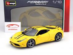 Ferrari 458 Speciale gelb 1:18 Bburago