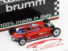 G. Villeneuve Ferrari 126CK turbo #27 Test Montecarlo formula one 1981 1:43 Brumm