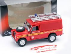 Land Rover Series III 109 Feuerwehr rot 1:43 Cararama