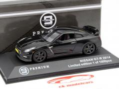 Nissan GT-R (R35) Year 2014 black 1:43 Triple9