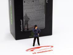 Feuerwehrmann ruft Figur 1:43 FigurenManufaktur