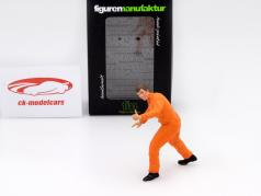 mechanic with orange overall thumb high figure 1:18 FigurenManufaktur