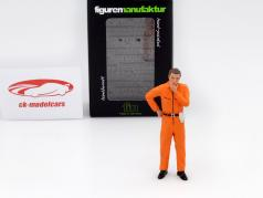 mechanic with orange overall pensive figure 1:18 FigurenManufaktur