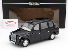 TX4 London Taxi Cab ano 2007 preto 1:18 SunStar