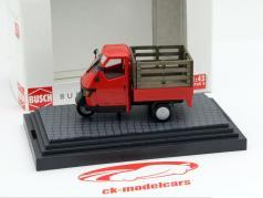 Piaggio Ape 50 com Gitterbox vermelho 1:43 Busch