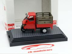 Piaggio Ape 50 with Gitterbox red 1:43 Busch