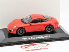Porsche 911 (991) Carrera S lava orange 1:43 Welly