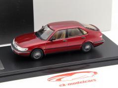 Saab 900 V6 année 1994 sombre rouge métallique 1:43 Premium X