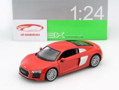 Audi R8 V10 Baujahr 2016 rot 1:24 Welly