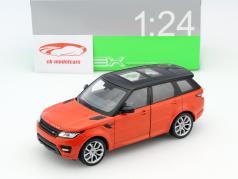 Range Rover Sport Baujahr 2015 orange metallic / schwarz 1:24 Welly