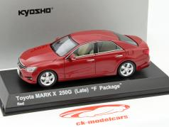 Toyota Mark X 250G (Late) F-Package rot 1:43 Kyosho