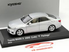 Toyota Mark X 250G (Late) F-Package silber 1:43 Kyosho