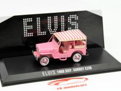 Jeep Surrey CJ3B Elvis anno 1960 rosa 1:43 Greenlight