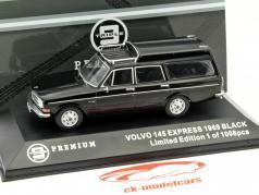 Volvo 145 Express ano 1969 preto 1:43 Triple9