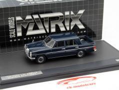 Mercedes-Benz Binz W115 Pick Up Double Cabin Baujahr 1930 dunkelblau 1:43 Matrix