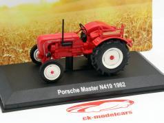 Porsche Master N 419 jaar 1962 rood 1:43 Hachette