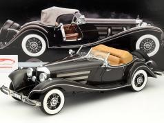 Mercedes-Benz 500K Spezial Roadster jaar 1934 donkerbruin 1:12 Bauer