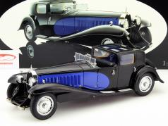 Bugatti Royale Coupe de Ville jaar 1930 blauw / zwart 1:18 Bauer