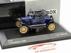 Ford T Runabout ano 1925 azul / preto 1:43 WhiteBox