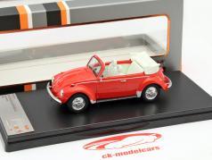 Volkswagen VW Käfer Cabriolet år 1973 rød 1:43 PremiumX