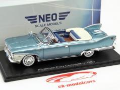Plymouth Fury Convertible Baujahr 1960 türkis metallic / weiß 1:43 Neo