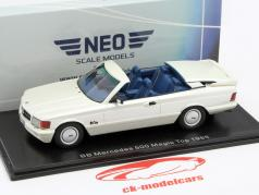 Mercedes-Benz 500 SEC BB Magic Top Year 1985 white metallic 1:43 Neo