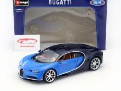 Bugatti Chiron Baujahr 2016 hellblau / dunkelblau metallic 1:18 Bburago