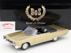 Chrysler Newport Cabriolet año 1967 oro metálico 1:18 BoS-Models