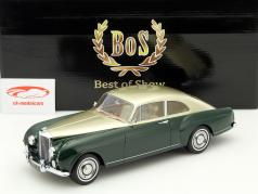 Bentley S1 Continental Mulliner Sports Saloon RHD jaar 1956 groen / goud 1:18 BoS-Models