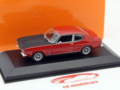 Ford Capri I ano 1969 vermelho 1:43 Minichamps
