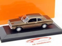 Ford Taunus ano 1970 marrom metálico 1:43 Minichamps