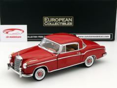 Mercedes-Benz 220 SE Coupe ano 1958 vermelho 1:18 SunStar