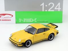 Porsche 911 Turbo 3.0 Baujahr 1974 gelb 1:24 Welly