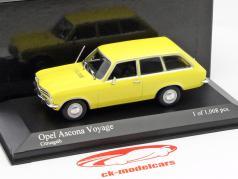 Opel Ascona Voyage année 1970 jaune 1:43 Minichamps