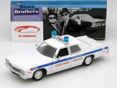 Dodge Monaco Chicago Police Department Blues Brothers 1980 branco 1:24 Greenlight