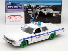 Dodge Monaco Chicago Police Department Blues Brothers 1980 branco / verde 1:24 Greenlight