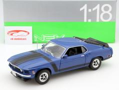 Ford Mustang Boss 302 ano 1970 azul 1:18 Welly