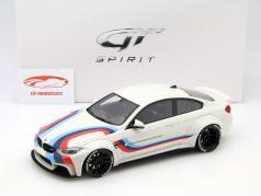 BMW M4 LB Works Design weiß mit Streifen 1:18 GT-SPIRIT