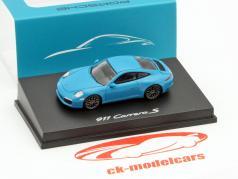 Porsche 911 Carrera S Miami blue 1:87 Spark