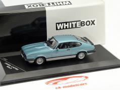 Ford Capri MK III 2.8 Injection Year 1982 blue 1:43 WhiteBox