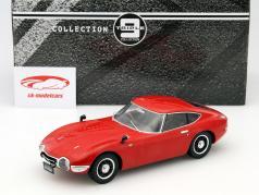 Toyota 2000 GT ano 1967 vermelho 1:18 Triple 9
