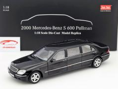 Mercedes-Benz Pullman S-Class Year 2000 black 1:18 SunStar