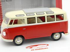 Volkswagen VW Samba Bus ano 1962 vermelho 1:24 Kinsmart
