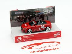 Audi TT Toy Fair Nuremberg 2015 red 1:87 Herpa